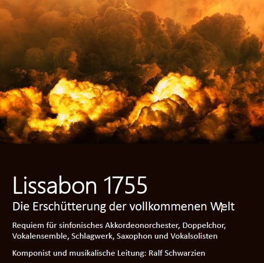 """+++VERSCHOBEN+++ Projekt 2020: Konzertreise nach Portugal und Komposition """"1755: Die Erschütterung der vollkommenen Welt"""" +++VERSCHOBEN+++"""
